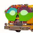 Fire Truck In Parade With Glasses — Stock Photo #43325229