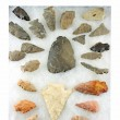 Indian Arrowheads From Western New York — Stock Photo