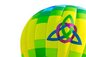 Hot Air Balloon With Trinity & Heart Symbol — Stock Photo