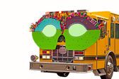 Fire Truck In Parade With Glasses — Stock fotografie