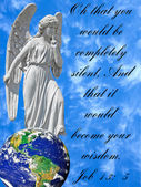 Conceptual Image of Angel With Bible Verse — Stock Photo