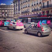 Protester à paris — Photo
