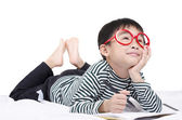 Smart boy dream a dream — Foto Stock