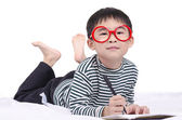 Smart boy dream a dream — Stock Photo