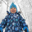 Young beautiful boy outdoor in winter — Stock Photo #32087935