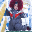 Young beautiful boy outdoor in winter — Stock Photo #32087939