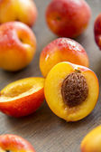 Sweet ripe peaches — Stock Photo
