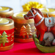 Horse symbol 2014 decoration — Stock Photo