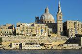 Valletta from sea — Stock Photo