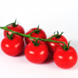 Fresh tomatos on white background — Stock Photo