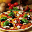 Vegetaripizza — Stock fotografie #27609247