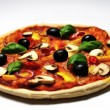 Vegetaripizzand white background — ストック写真 #27610191