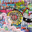 Graffiti at the john lennon wall in prague — Stock Photo