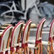 Stock Photo: Chairs in bistro