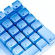 Keyboard in blue ambiance — Stock Photo #22950656