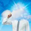 Royalty-Free Stock Photo: Businessman is working in the cloud writing with a the text you like