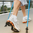 Nordic - walking — Stock Photo