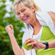 The senior fitness — Stock Photo