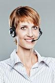 Female callcenter operator — Stock Photo