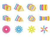 Creative color design elements — Stock Vector