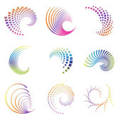 Design wave icons — Stock Vector