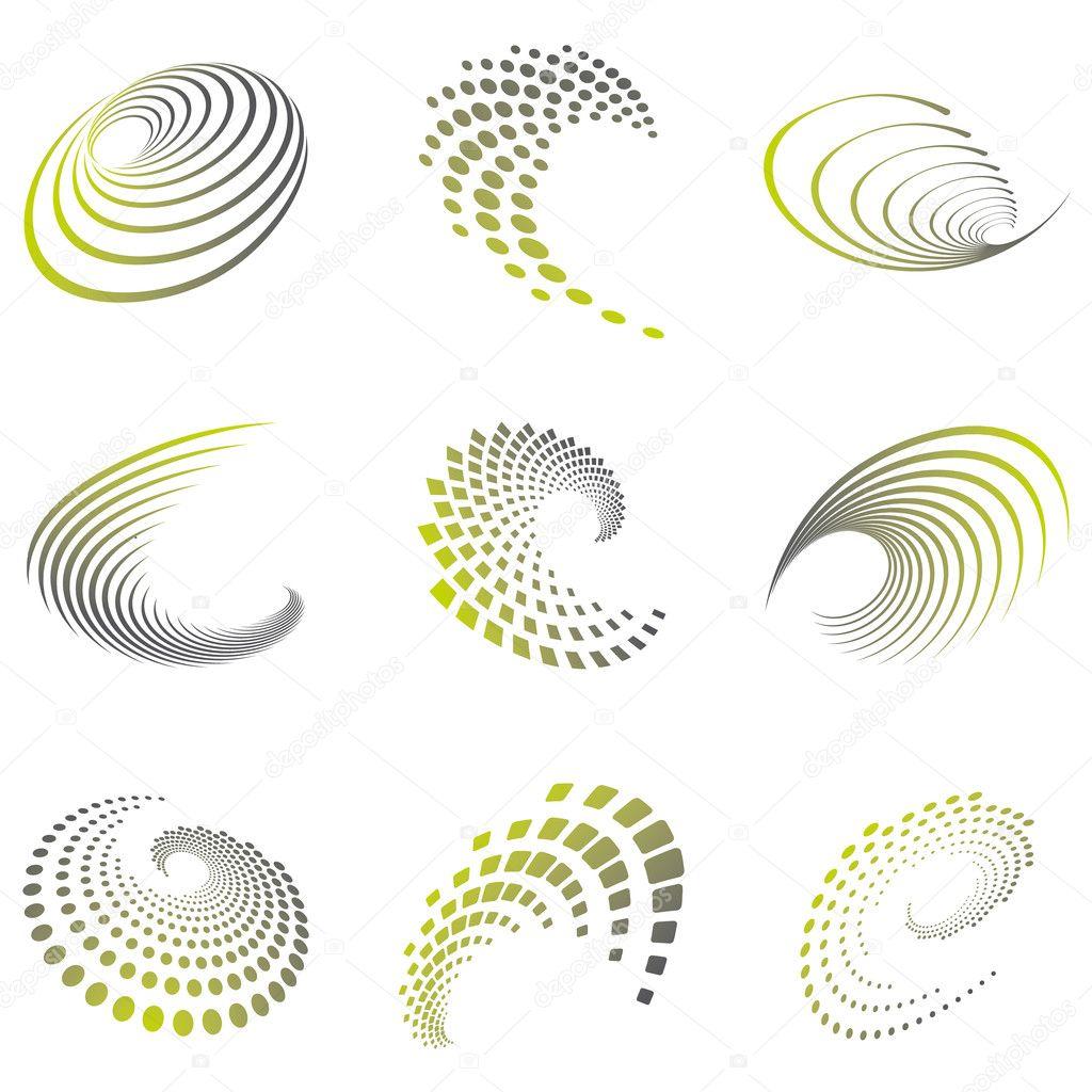 Motion Symbol Wave Set Stock Vector Jbrouckaert1 23009904