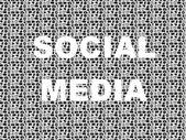 социальные медиа слово в шаблон набор иконок — Cтоковый вектор