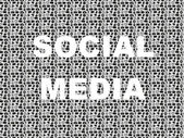 Social media word in icon pattern set — Vector de stock