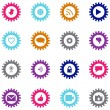 Social technology and media icon set — Stock Vector