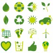 Set of bio eco environmental related icons and symbols — Stock Vector