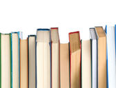 Book heap isolated on white background — Stock Photo