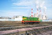 Kolejowy w dzielnicy przemysłowej — Zdjęcie stockowe