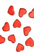 Red hearts isolated on white background — Stock Photo