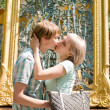 Attractive young couple kissing — Stock Photo #23810721