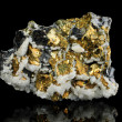 Pyrite mineral isolated on black background — Stock Photo