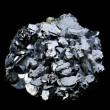 Galena galenite isolated on balck background - Stockfoto