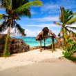 Anse Source D'argent. Romantic beach. Seychelles island - Stock Photo