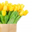 Tulips in the paper bag — Stock Photo #24210147