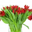 Bouquet of tulips in the vase - Stock Photo