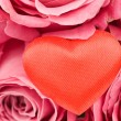Valentine Heart in red roses - Stock Photo