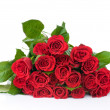 Roses bouquet isolated on white background — Stockfoto