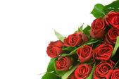 Růže kytice izoluje na bílém pozadí — Stock fotografie