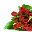 Roses bouquet isolates on white background — Stock Photo