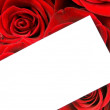 Roses bouquet with greeting card — Foto Stock