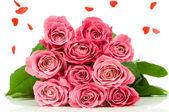 Růže kytice izolovaných na bílém pozadí — Stock fotografie