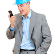 Angry businessman talking on phone — Stock Photo #25550751