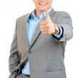 Businessman showing thumb up — Stock Photo #25550991