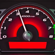 Stock Photo: Red dashboard