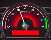 Red dashboard — Stock Photo