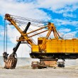 Stock Photo: Mining industry machine - vintage excavator
